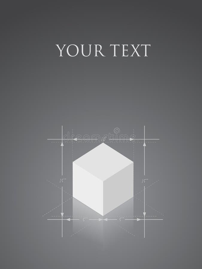 Vector kubusontwerp vector illustratie