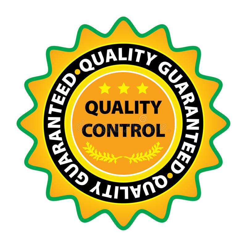 Vector kwaliteitsetiket stock illustratie