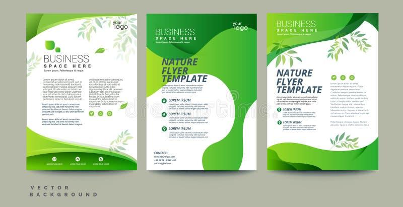 Vector l'aletta di filatoio di eco, il manifesto, l'opuscolo, modello di copertura della rivista royalty illustrazione gratis