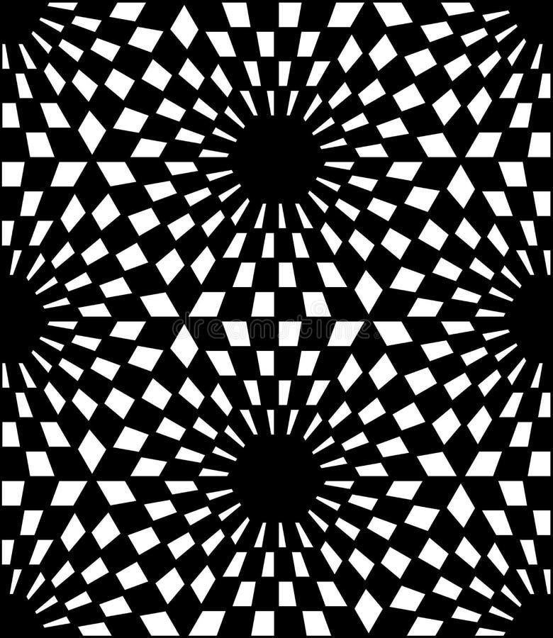 Vector l'esagono sacro senza cuciture moderno del modello della geometria, estratto in bianco e nero illustrazione di stock