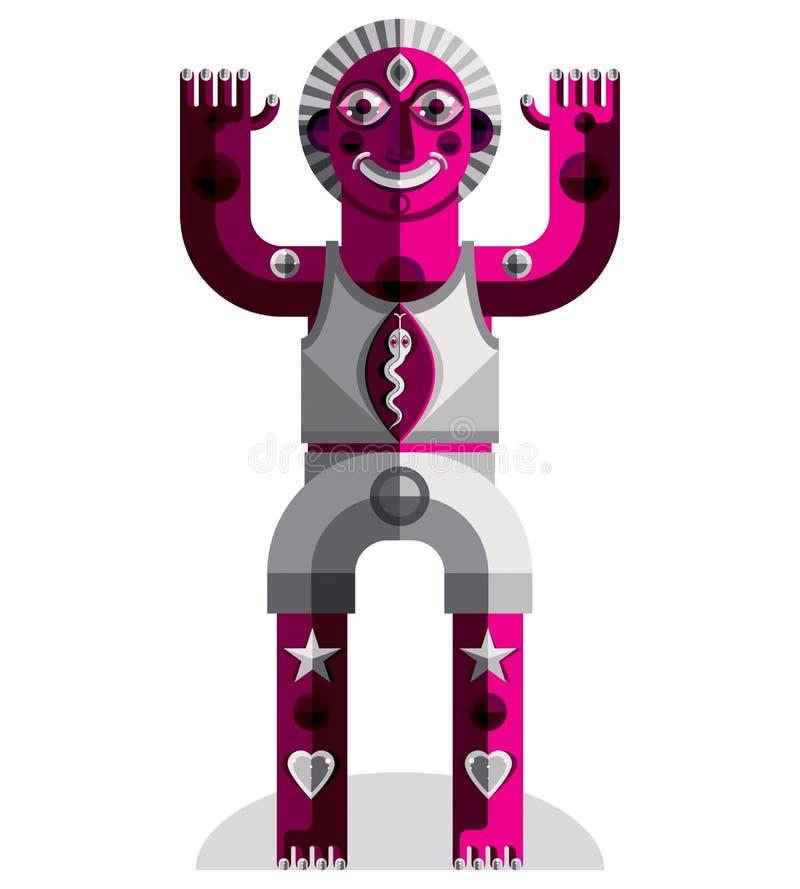 Vector l'illustrazione all'avanguardia della persona mitica, simbolo pagano royalty illustrazione gratis