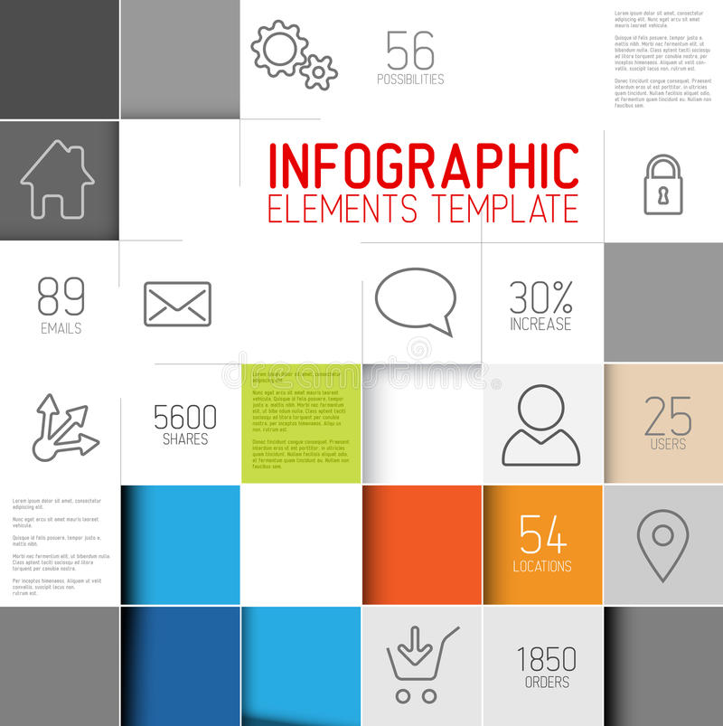 Vector l'illustrazione astratta del fondo dei quadrati/modello infographic royalty illustrazione gratis