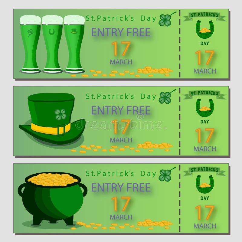Vector l'illustrazione del logo per il giorno del ` s di St Patrick di festa della celebrazione royalty illustrazione gratis