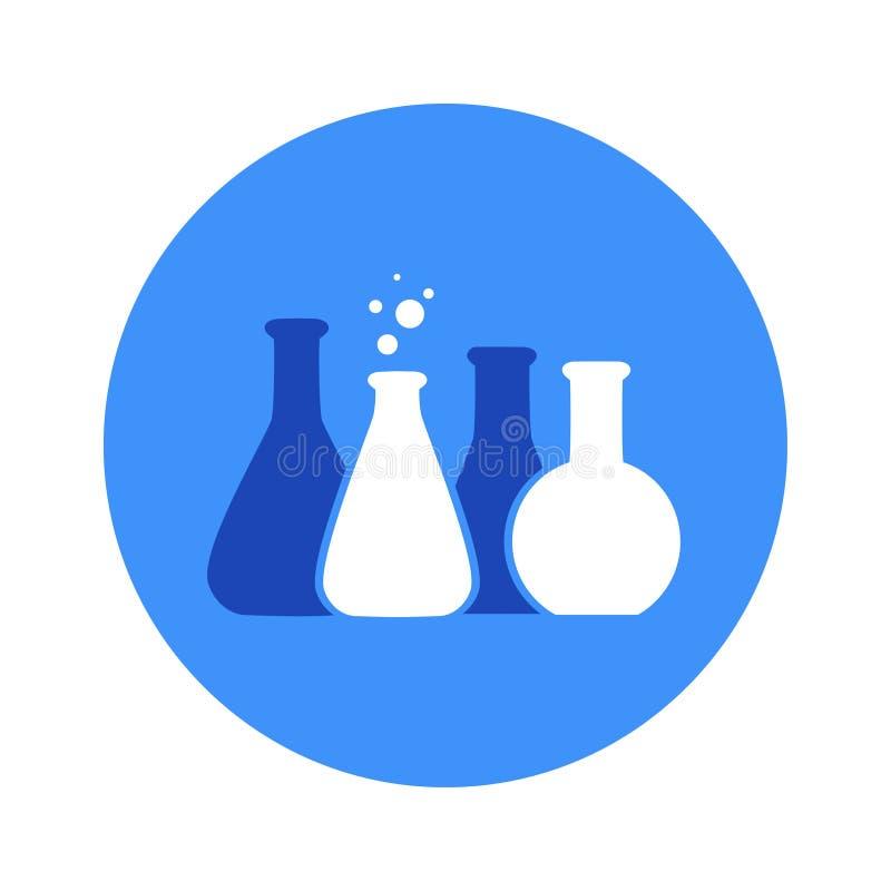 Vector l'illustrazione dell'icona chimica del tubo della prova di laboratorio illustrazione vettoriale