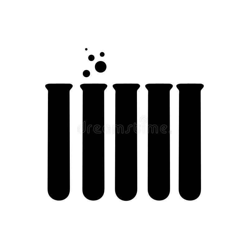 Vector l'illustrazione dell'icona chimica del tubo della prova di laboratorio illustrazione di stock