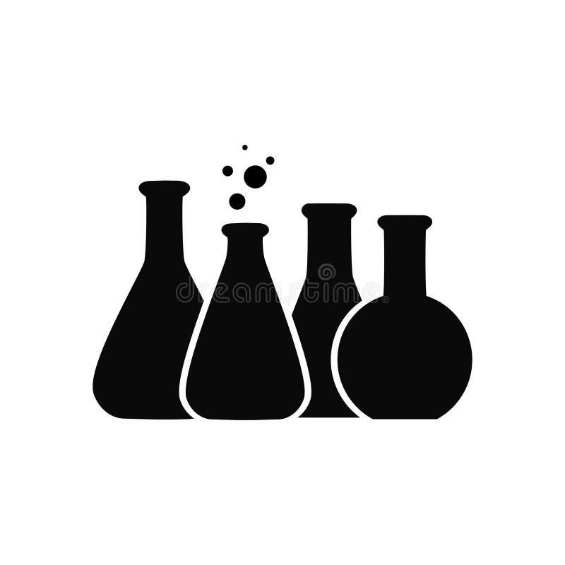 Vector l'illustrazione dell'icona chimica del tubo della prova di laboratorio royalty illustrazione gratis