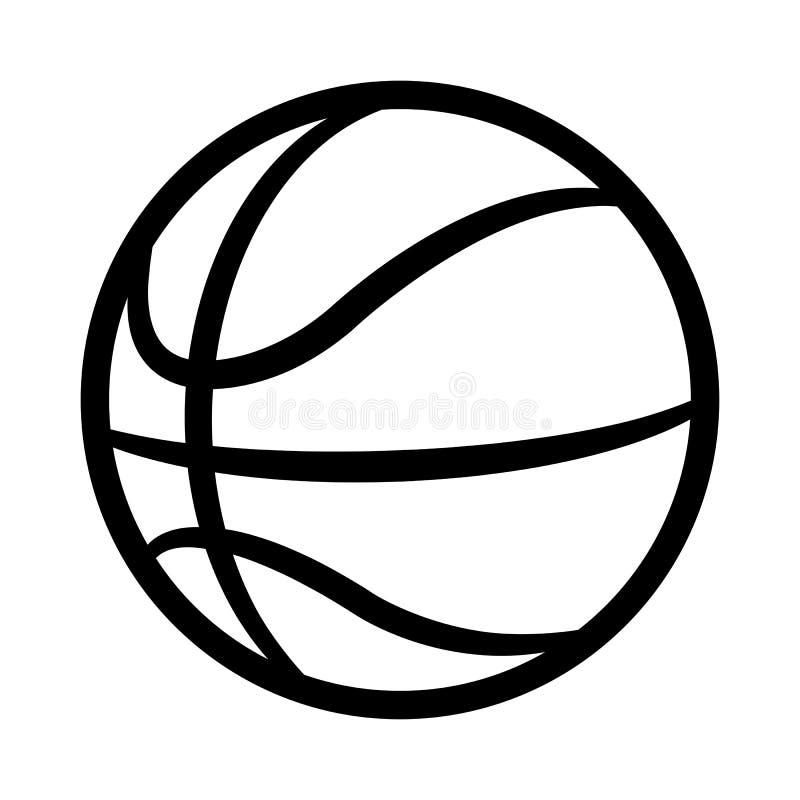 Vector l'illustrazione della siluetta della palla di pallacanestro isolata su bianco illustrazione vettoriale