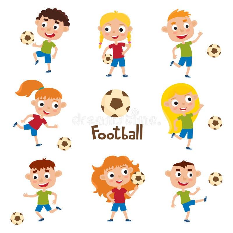 Vector l'illustrazione delle bambine e dei ragazzi in camicia e nello short royalty illustrazione gratis