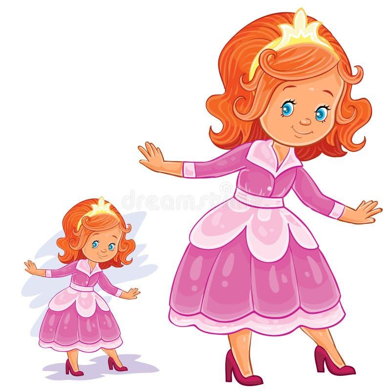 Vector l'illustrazione di clipart con la ragazza in sala da ballo, costume di epoca illustrazione di stock