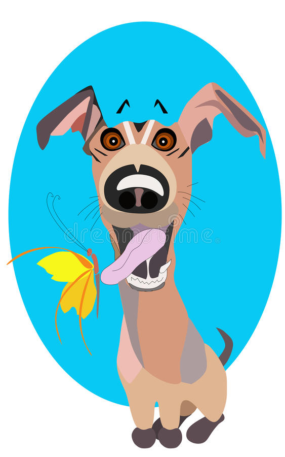 Vector l'illustrazione di clipart del fumetto di un cucciolo sveglio e felice royalty illustrazione gratis