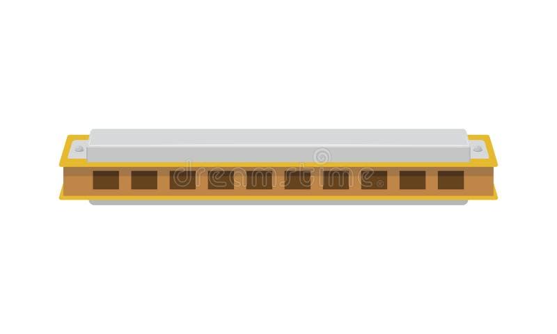 Vector l'illustrazione di un'armonica isolata su fondo bianco illustrazione vettoriale