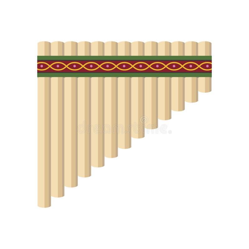 Vector l'illustrazione di un panpipe isolato su fondo bianco illustrazione di stock