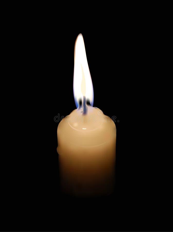 Vector l'illustrazione di una candela fotografia stock libera da diritti