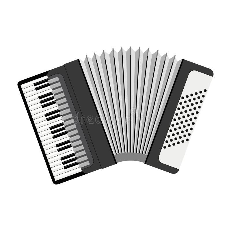 Vector l'illustrazione di una fisarmonica isolata su fondo bianco royalty illustrazione gratis