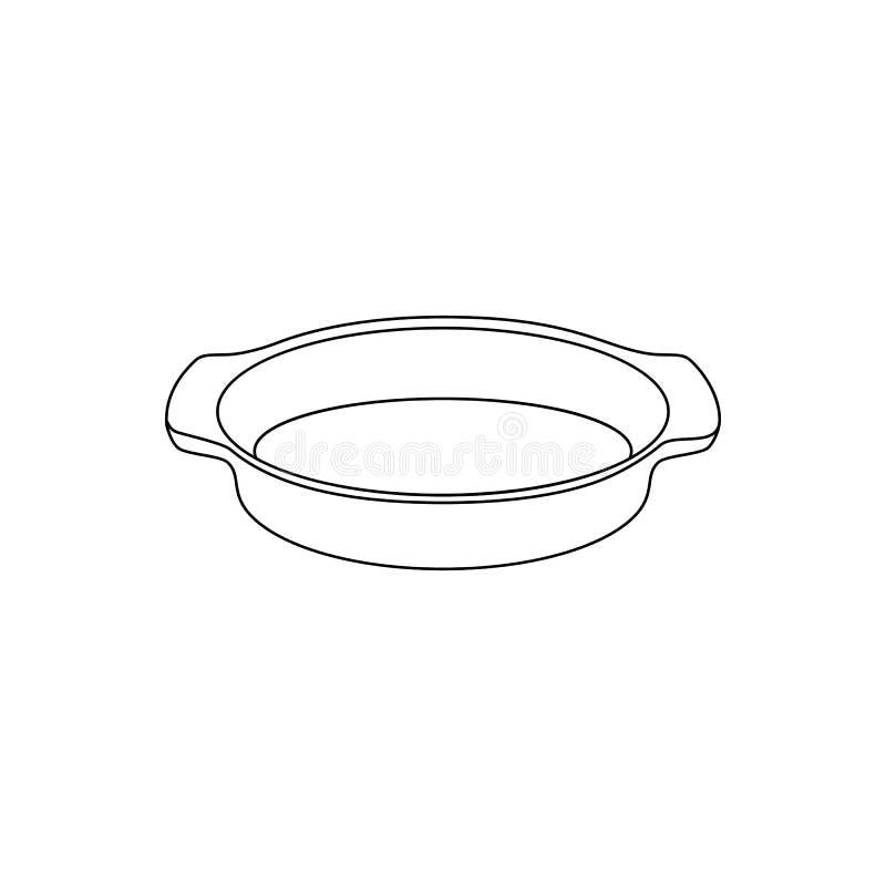 Vector l'illustrazione lineare di una forma per cuocere illustrazione di stock