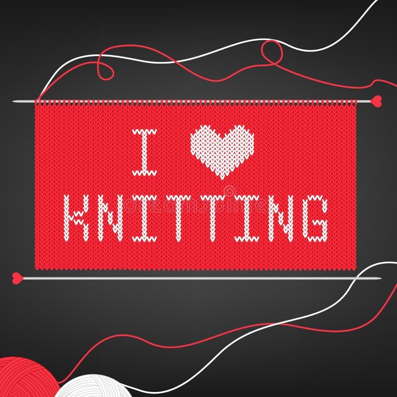 Vector l'illustrazione per i needlewomen con i ferri da maglia, palle del filato, tricottare e segnanti il ` con lettere I per am royalty illustrazione gratis