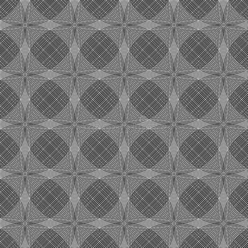 Vector l'immagine di sfondo astratta dell'illustrazione delle forme e delle linee geometriche nere su fondo bianco fotografie stock