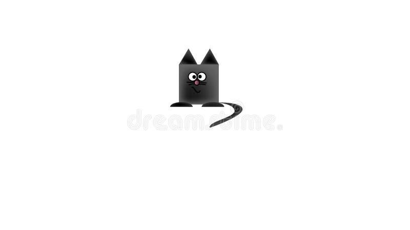 vector l'immagine di un gatto, consistente delle forme geometriche Gatto nero immagini stock libere da diritti