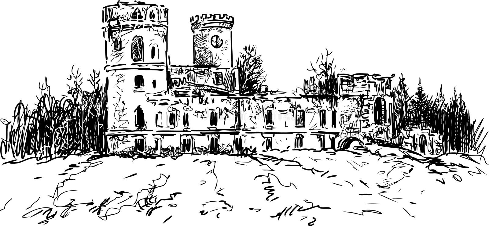 Rovine del castello royalty illustrazione gratis