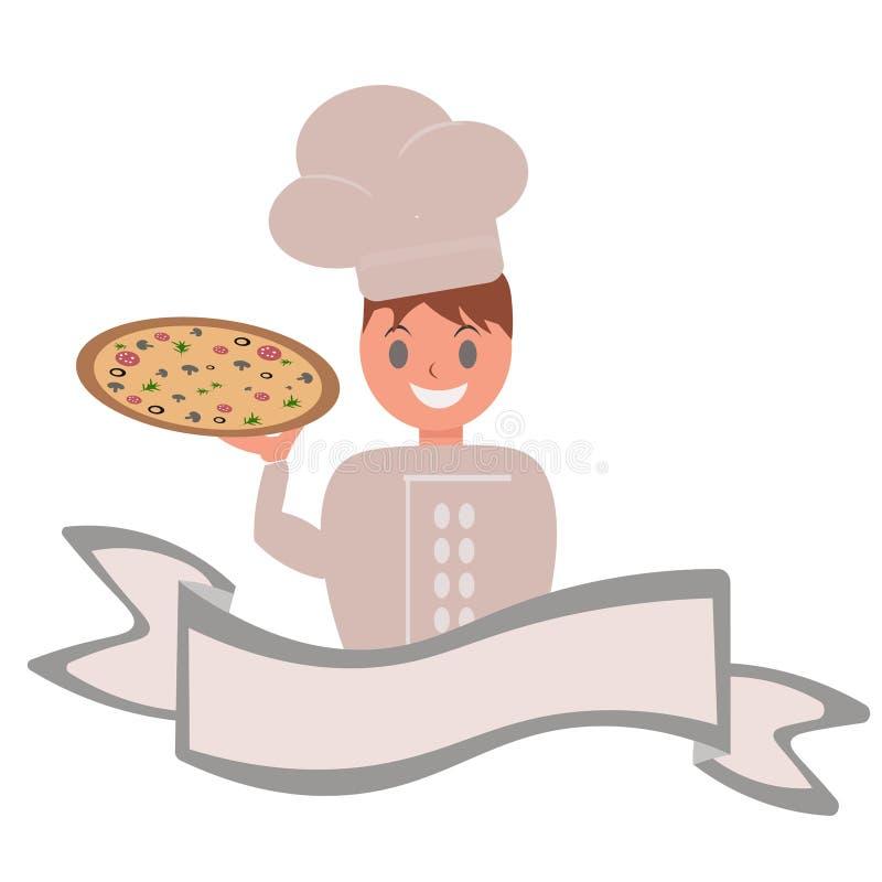 vector l'insegna di logo per la pubblicità del ristorante italiano della pizza per il nome costante illustrazione di stock