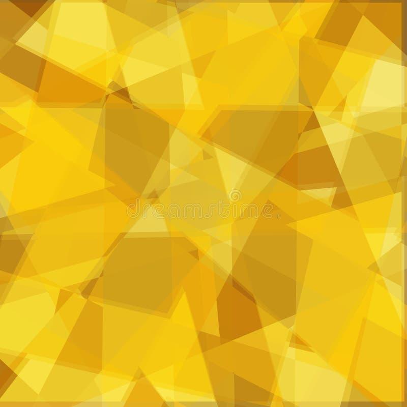 Vector l'insegna geometrica astratta di colore con le forme del triangolo illustrazione di stock