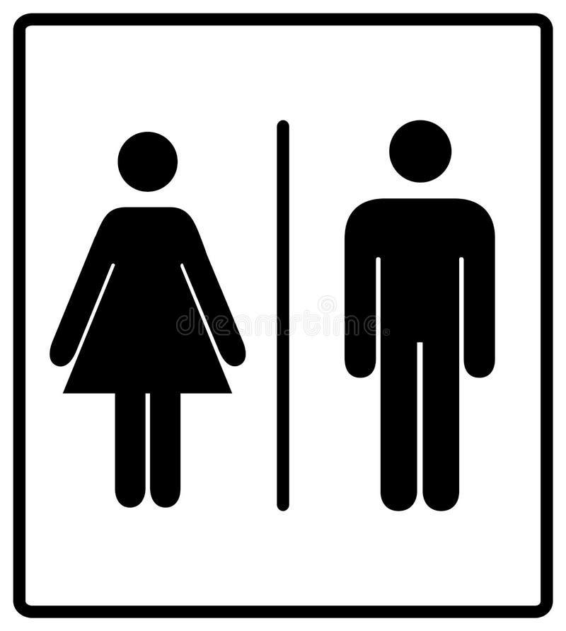 Vector l'insieme disattivato del contrassegno della toilette delle donne e degli uomini royalty illustrazione gratis