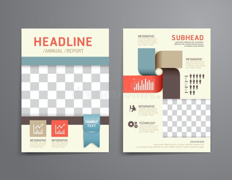 Vector l'opuscolo, l'aletta di filatoio, progettazione del manifesto del libretto della copertura di rivista illustrazione di stock