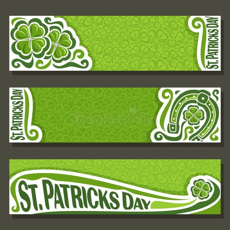 Vector la bandera abstracta para el día del ` s de St Patrick ilustración del vector
