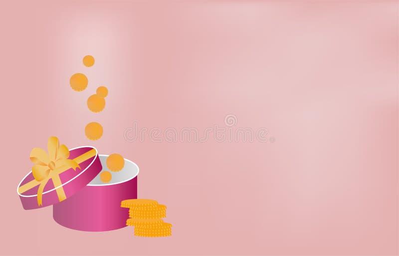 Vector la bandera hermosa del rosa del fondo para el advertisin financiero libre illustration