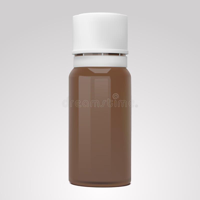 Vector la botella realista para los aceites esenciales y los productos cosméticos ilustración del vector