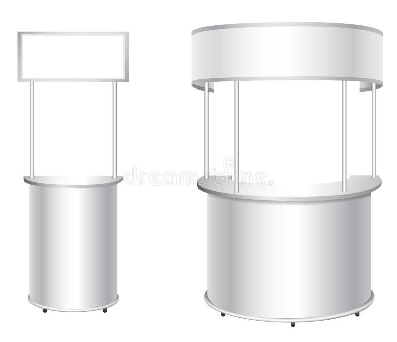 Vector la cabina en blanco de la feria profesional para los diseñadores y la publicidad ilustración del vector