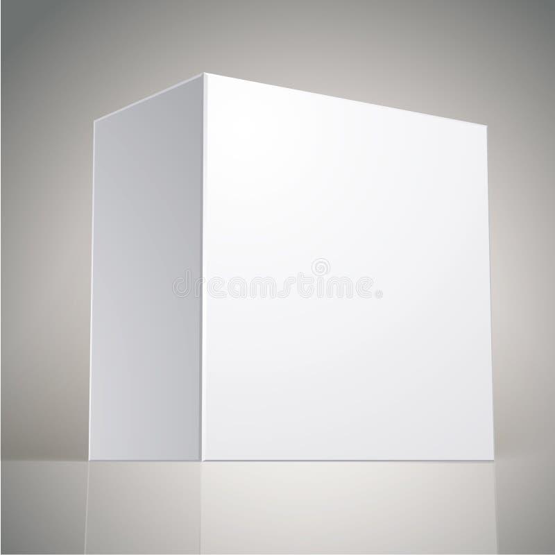 Vector la caja en blanco, plantilla para su diseño de paquete, ponga su ima stock de ilustración