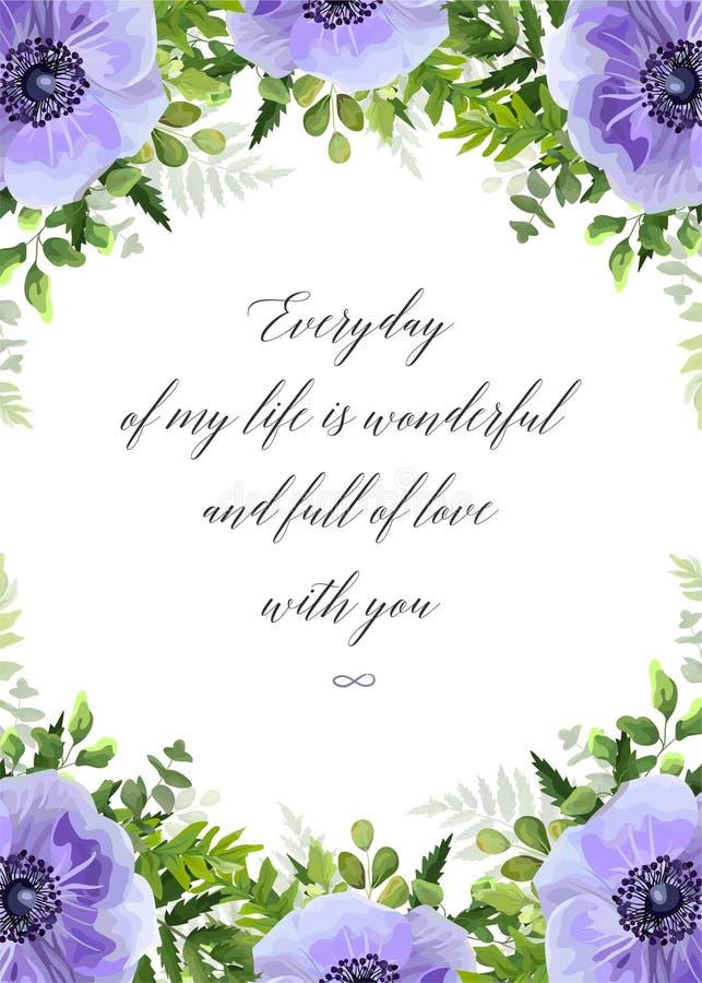 Vector la cartolina d'auguri floreale, progettazione della cartolina con l'acquerello ult royalty illustrazione gratis