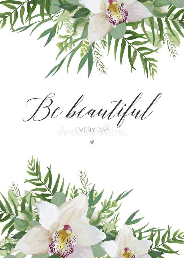 Vector la cartolina d'auguri, progettazione dell'insegna del manifesto della cartolina con la o bianca illustrazione vettoriale
