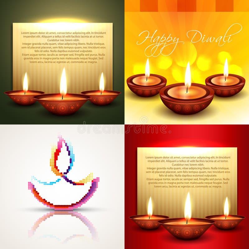 Vector la colección de diversos tipos de illust del fondo del diwali libre illustration