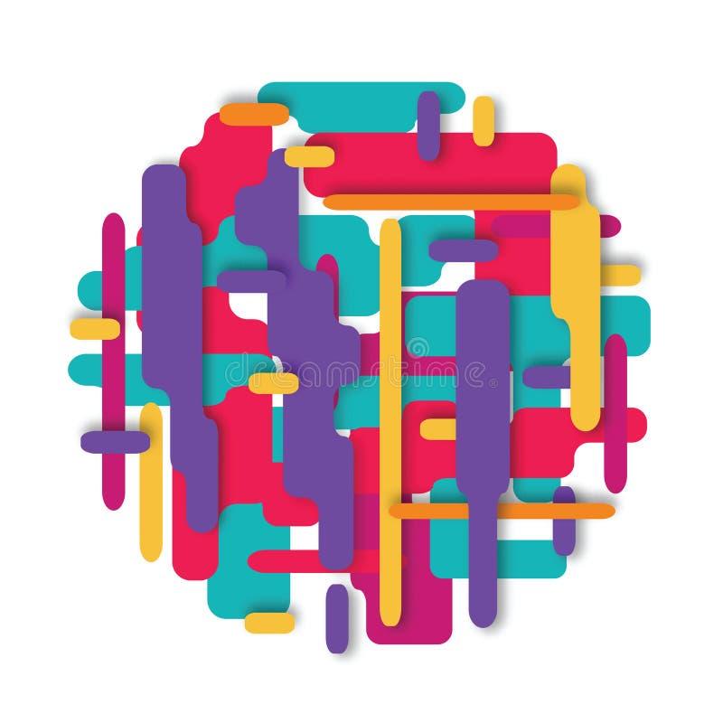 Vector la composición moderna hecha de diversas formas redondeadas stock de ilustración