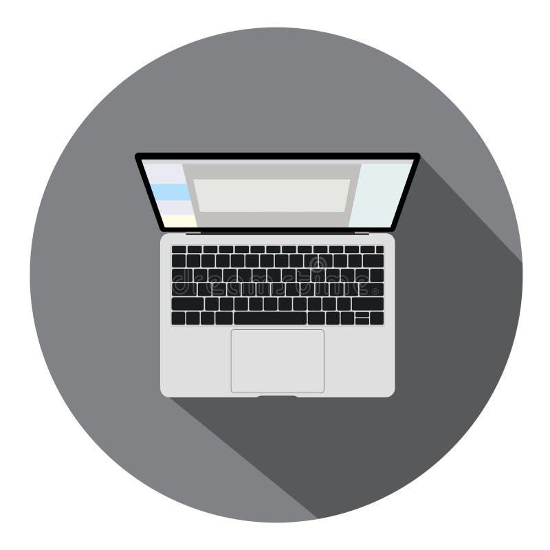 Vector la computadora port?til Ejemplo plano del icono Indicador digital, tecnolog?a moderna libre illustration