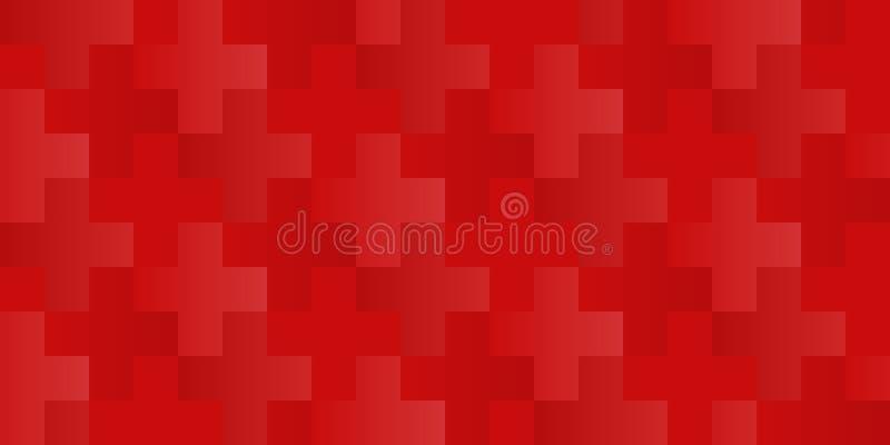 Vector la cruz inconsútil o el modelo más con el color de fondo cambiable para las cruces stock de ilustración