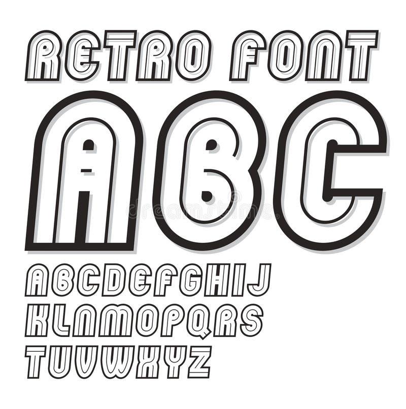 Vector la escritura creativa del vintage, letras frescas del alfabeto fijadas, puede b libre illustration