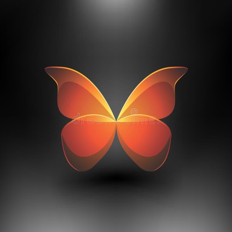 Vector la farfalla lucida illustrazione di stock