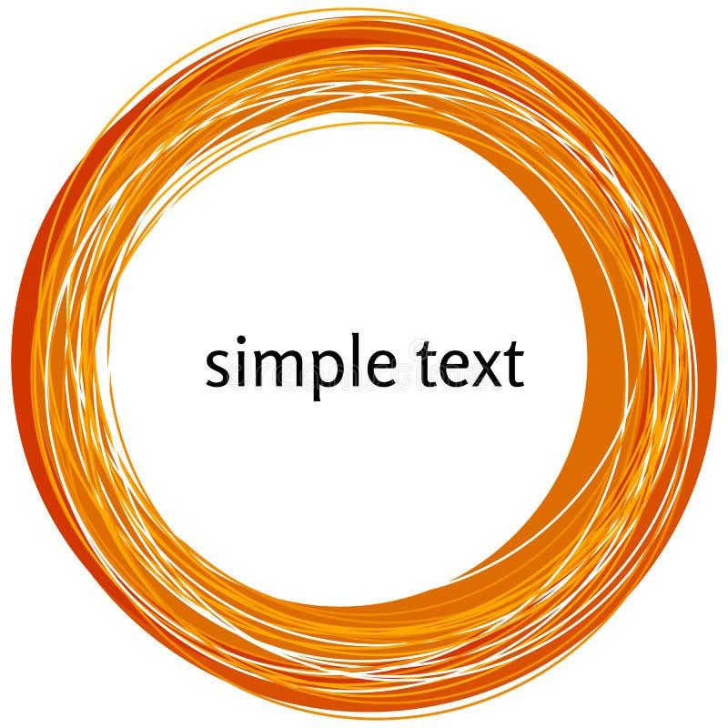 Vector la forma anaranjada abstracta del remolino aislada en el fondo blanco stock de ilustración