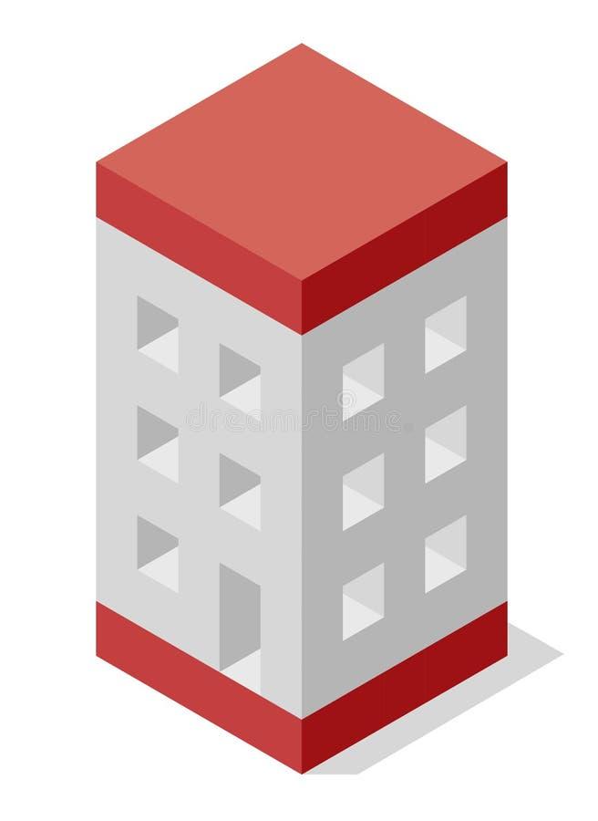 Vector la forma del cubo che evoca la costruzione approssimativa della casa La forma del blocchetto di Minimalistic gradisce cost royalty illustrazione gratis