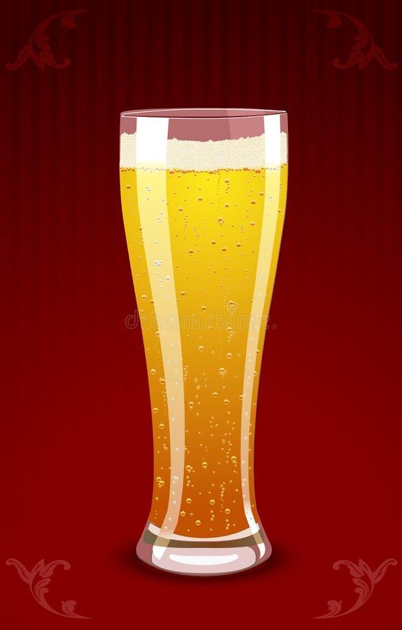 Vector la ilustración de un vidrio de cerveza ilustración del vector