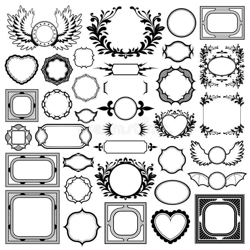Vector la imagen de diversos bastidores sobre el fondo blanco libre illustration