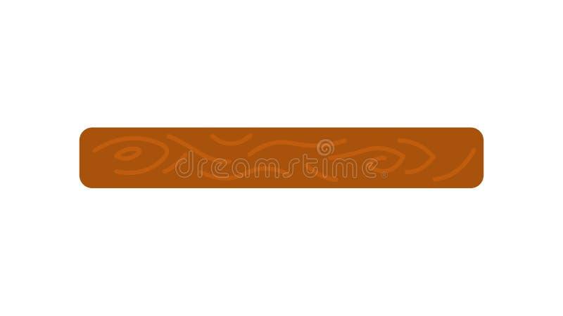 Vector la imagen de un tablón de madera en el fondo blanco ilustración del vector