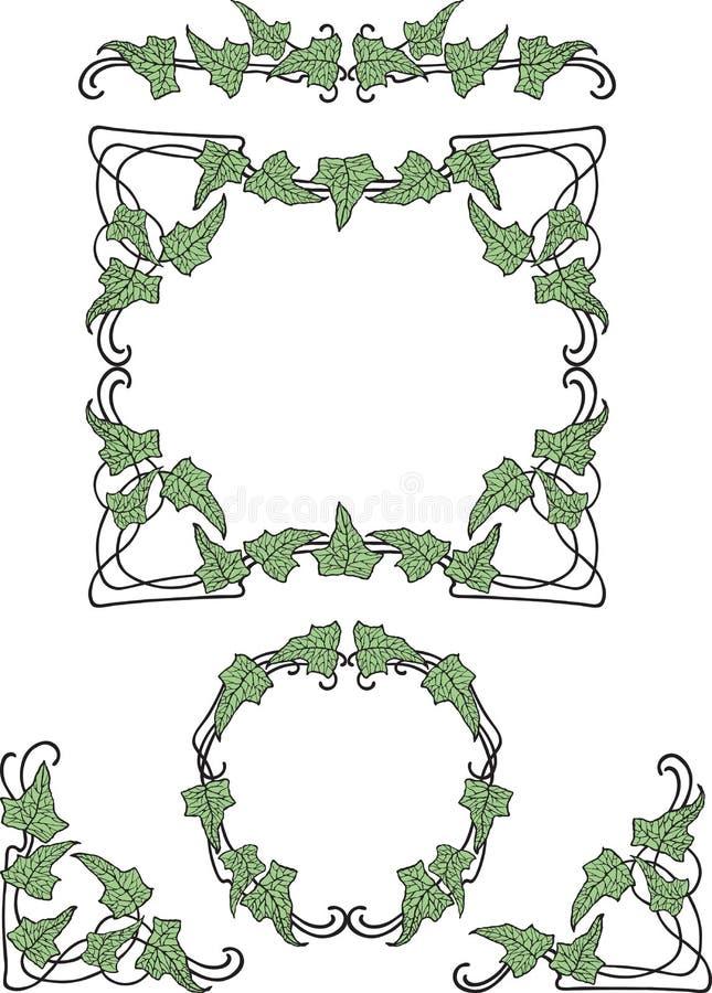 Vector la imagen de la vid decorativa en la forma de diversos bastidores libre illustration
