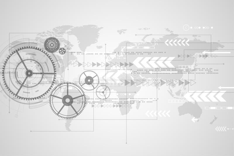 Vector la innovación abstracta de la tecnología del fondo del futuro fotos de archivo