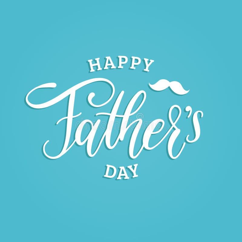 Vector la inscripción caligráfica feliz del día de padres para la tarjeta de felicitación, el cartel festivo etc Ejemplo de las l stock de ilustración