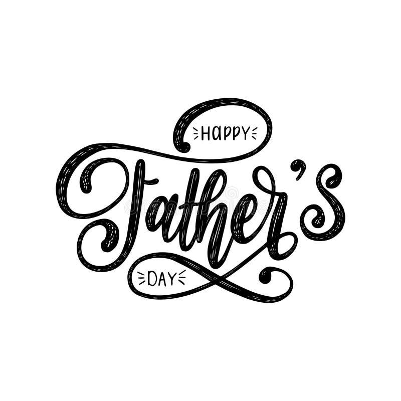 Vector la inscripción caligráfica feliz del día de padres para la tarjeta de felicitación, el cartel festivo etc Ejemplo de las l libre illustration