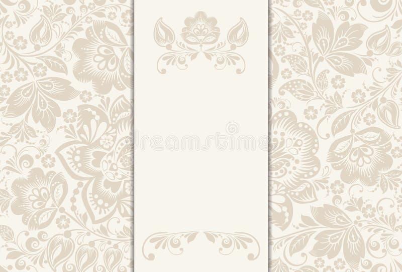 Vector la invitación, tarjeta del aniversario con la etiqueta para stock de ilustración